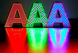 Цветные пиксельные буквы (RGB), фото 3