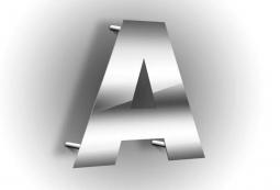 Плоские несветовые буквы 8 мм, фото 1