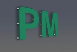Плоские несветовые буквы 8 мм, фото 6