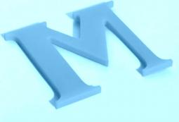Плоские несветовые буквы 3 мм, фото 6