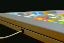 Место соединения провода со световой панелью Frame