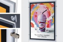 Конструкция световых панелей Magnet для рекламы мороженого