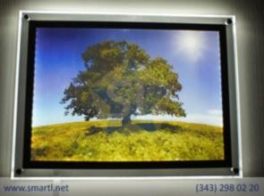 Световые панели для изображений на стене