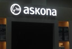 Изготовление рекламных вывесок, Askona
